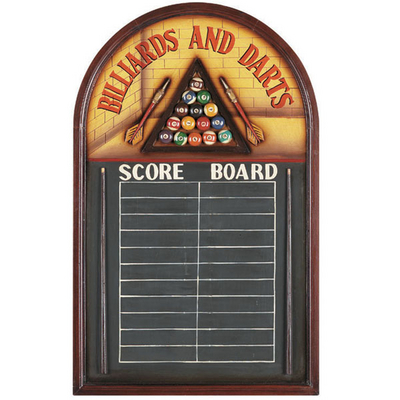 A Chalk Scoreboard Perfect for a Game Room with a Pool Table, Dartboard or Both