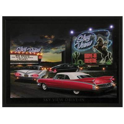 Rechargeable LED Wall Art Roxie Palace Sky View Drive In