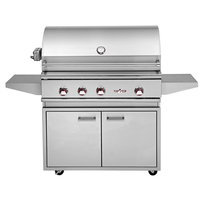 Sleek, Professional-Quality Gas Grill with an Infrared Rotisserie & Portable Cart