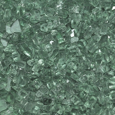 Large Evergreen Fire Glass for Your Outdoor Propane Fire Pit or Fireplace
