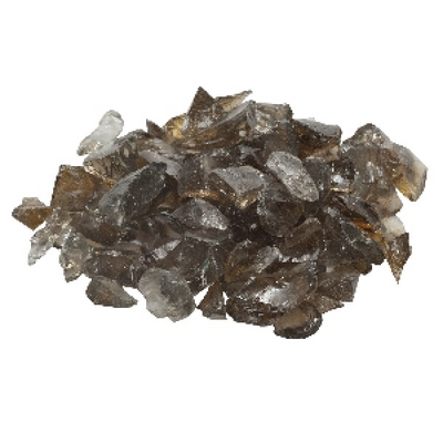 A Large 20 Lb. Bag of Beautiful Bronze Fire Glass for Your Fire Pit or Fireplace