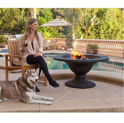 A Refined Design Makes This Heavy Fire Pit Perfect for Placement on Any Patio
