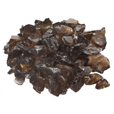 A Large 20 Lb. Bag of Stunning Copper Fire Glass for Your Fire Pit or Fireplace