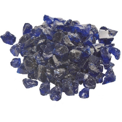 A Large 20 Lb. Bag of Dark Blue Fire Glass for Your Fire Pit or Fireplace