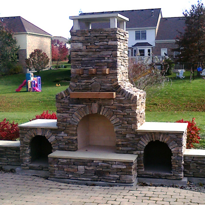 A Custom Stone Fireplace That Will Add a Special Touch to Your Outdoor Room