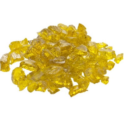 A Large 20 Lb. Bag of Stunning Yellow Fire Glass for Your Fire Pit or Fireplace