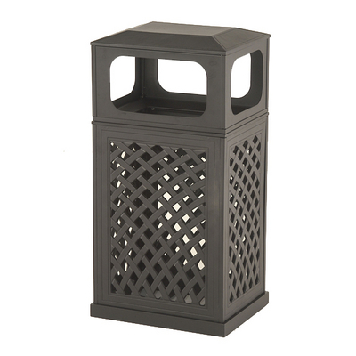 Indoor Elegance Meets Outdoor Function with The Newport Trash Can by Hanamint