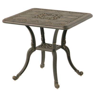 A Cast Aluminum End Table To Match The St. Moritz Dining Collection
