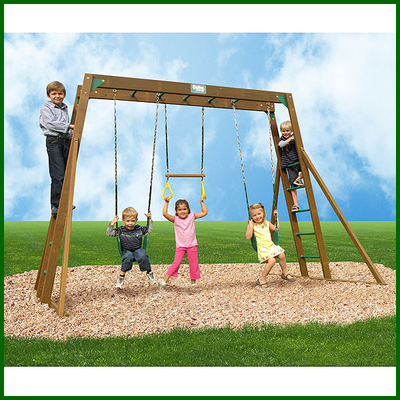 Classic monkey bar play gym by creative playthings for Unique swings for kids