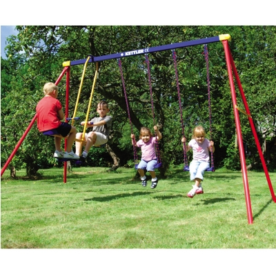 This Deluxe Swing Set Offers You The Ability To Customize Your Swing Lineup