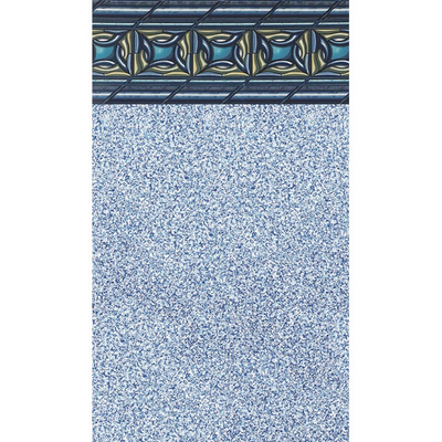 Round Beaded Swimming Pool Liner with Mosaic Design and Comfortable Vinyl