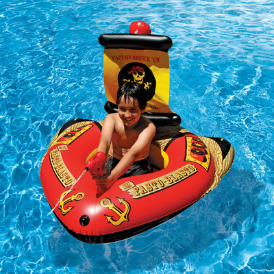 Have some fun this summer with pool toys and floats from - Inflatable pirate ship swimming pool ...
