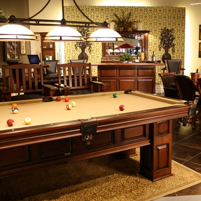 Professional-Level Slate Billiard Table with Heirloom-Quality Materials & Designs