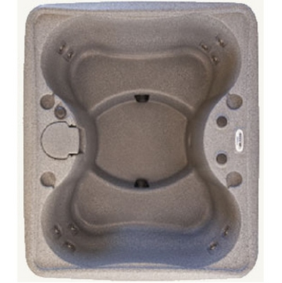 This Portable Plug N Play Hot Tub & Spa by DreamMaker Seats Four People