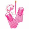Kids Mask/Snorkel/Fin Set (Pink)