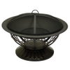Scrolled Bronze Wood Burning Fire Pit