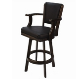 Backed Swivel Bar Stool - Cappuccino