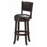 Backed Bar Stool - Cappuccino