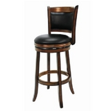 Backed Bar Stool - Chestnut