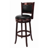 Backed Bar Stool - English Tudor