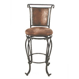 Milan Brown Copper Bar Stool
