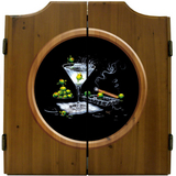Olive Party Dart Board & Cabinet