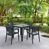 Artemis Square Armchair Dining - Black