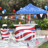 Outdoor Patriotic Bar Set