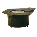 Sherwood Hexagonal Enclosed Fire Pit Table