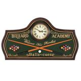 Billiard Academy Wall Clock