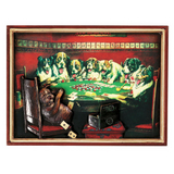 Poker Dogs Under Table Wall Art