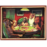 Poker Dogs With Cigars Wall Art
