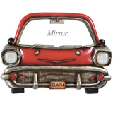 Red Car with Mirror Wall Art