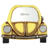 Yellow Car with Mirror Wall Art
