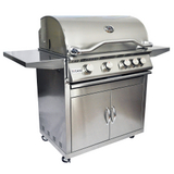 4 Burner Grill and Cart
