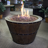 37'' Tapered Wine Barrel Fire Pit Table