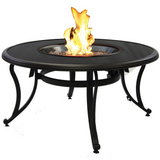 Black Glass Fire Pit Table