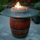 Grand Wine Barrel Fire Pit Table - Granite