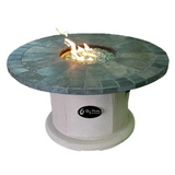Slate Top Fire Pit Table