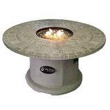 Travertine Top Fire Pit Table