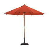 9' Wood Pulley Market Umbrella