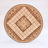 Basilica Marble Mosaic Serving Cart