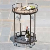 Basilica Marble Mosaic Serving Cart