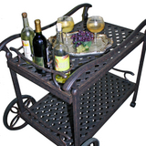 Cast Aluminum Tea Cart