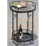Portobello Marble Mosaic Serving Cart