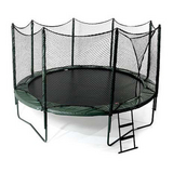 14' Variable Bounce Trampoline w/ Enclosure